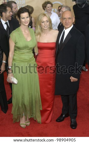RACHEL GRIFFITHS (left) with SIR BEN KINGSLEY & date at the 10th Annual Screen Actors Guild Awards in Los Angeles. February 22, 2004