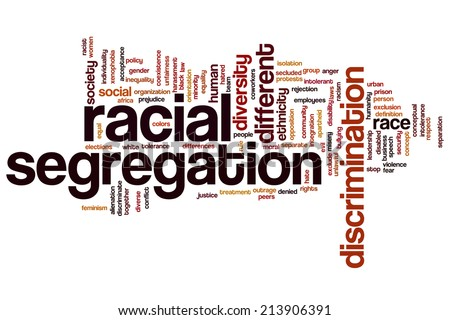 Racial segregation concept word cloud background - stock photo