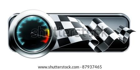 Racing banner, bitmap copy - stock photo