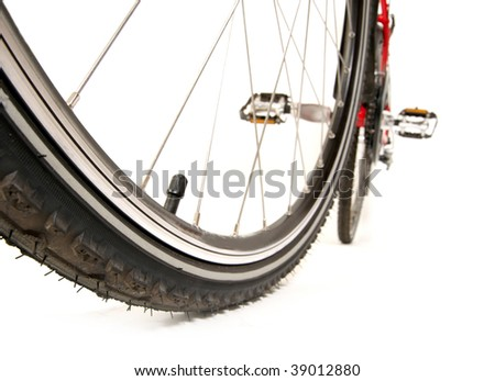 Racing bicycle on white - stock photo
