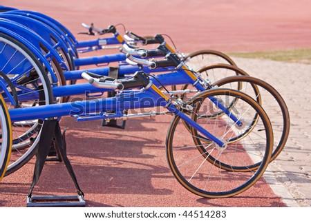 Racing bike wheelchairs - stock photo