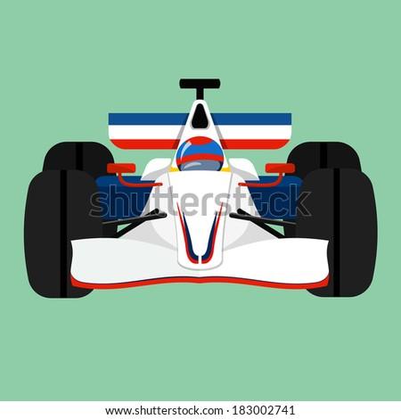 Racing car  - stock photo