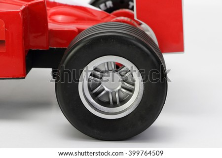 racing car tire - stock photo