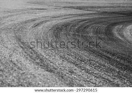 Racing curve - stock photo