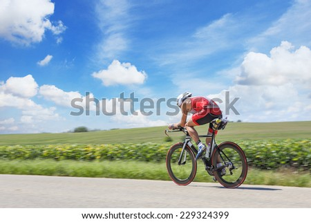 Racing Cyclist - stock photo