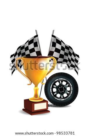 Racing Design Elements - stock photo