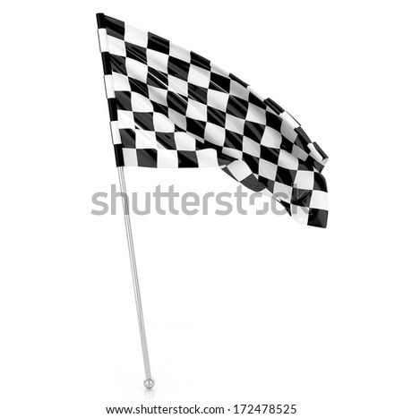 Racing Flag, 3d illustration - stock photo