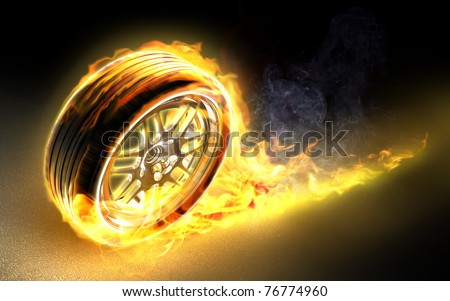 Racing hot wheels - stock photo
