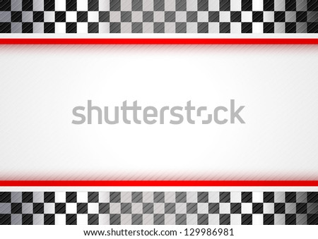 Racing red background. Vector copy also available - stock photo