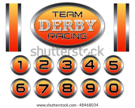 Racing Set for Scale Model Derby Race Cars - stock photo
