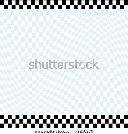Racing theme checkered background with 2 row checkered top line and 3 row checkered bottom line.