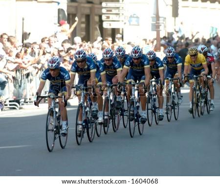 racing through france - stock photo