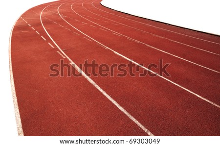 Racing track space ground - stock photo