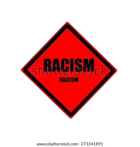 Racism black stamp text on red background - stock photo