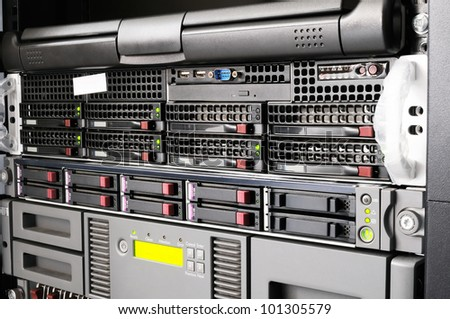 Rack mounted equipment, system storage and servers