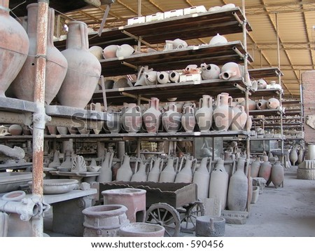 Rack of Pompeii Pots
