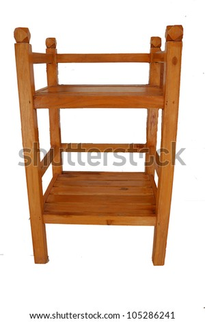 Rack of wood on a white background.