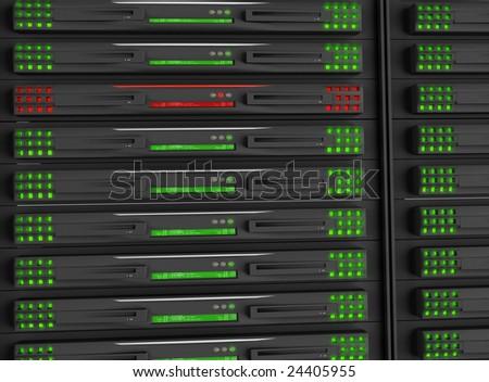 Rack servers - stock photo