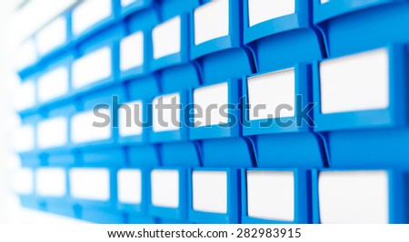 rack with boxes - stock photo