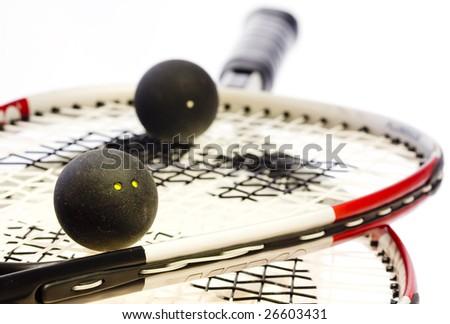 Racket squash - stock photo