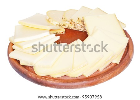 raclette cheese - stock photo