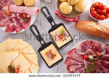 raclette party - stock photo