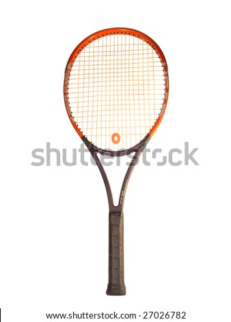 racquet big tennis isolated on white background - stock photo