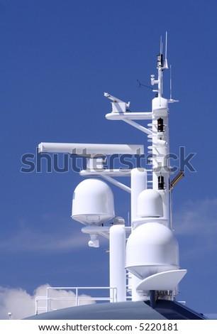 Radar and loran navigational antenna - stock photo