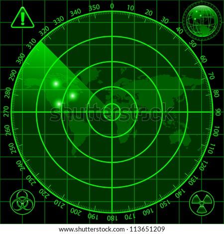 Radar screen - stock photo