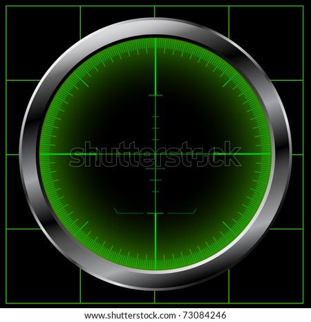 Radar screen. Raster copy of vector illustration. - stock photo