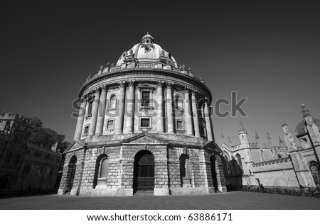 Radcliffe Camera and part of All Souls College in Oxford - stock photo
