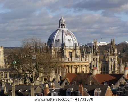 Radcliffe camera at the Bodleian Library in Oxford (Oxford University) - stock photo