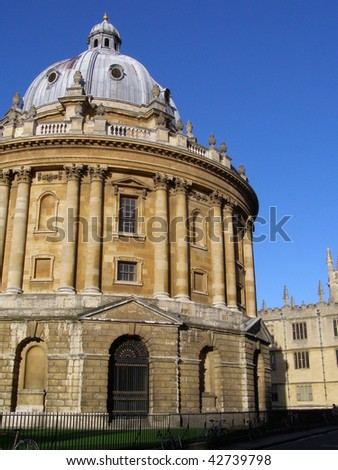 Radcliffe camera - Bodleian library in Oxford - stock photo