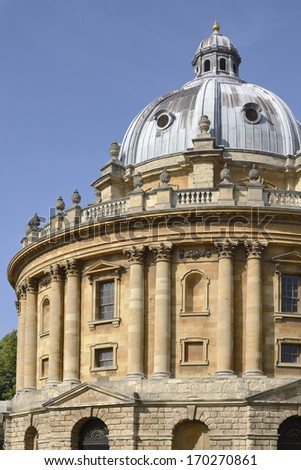 Radcliffe Camera in Radcliffe Square. Oxford. England. Reading room for the Bodleian Library - stock photo
