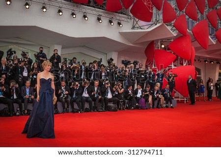 Radha Mitchell attends the opening ceremony and premiere of 'Everest' during the 72nd Venice Film Festival on September 2, 2015 in Venice, Italy