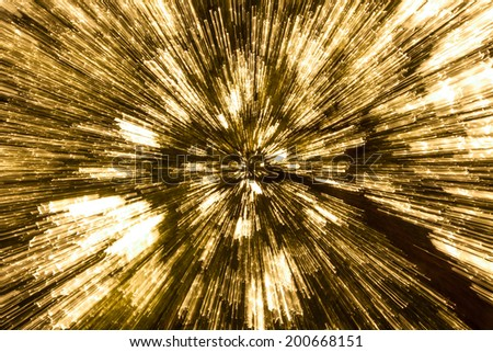 radial blur of bokeh spot in the forest