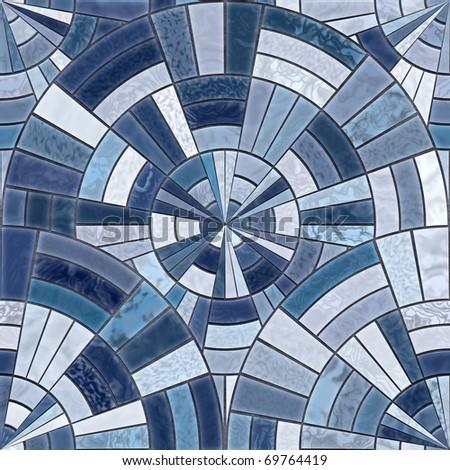 Radial mosaic tiles.  Seamless Textures - stock photo