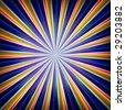 Radial zoom burst of energy, abstract background illustration - stock photo
