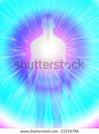 Radiant Man - stock photo