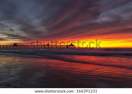 Radiant Sunset - stock photo