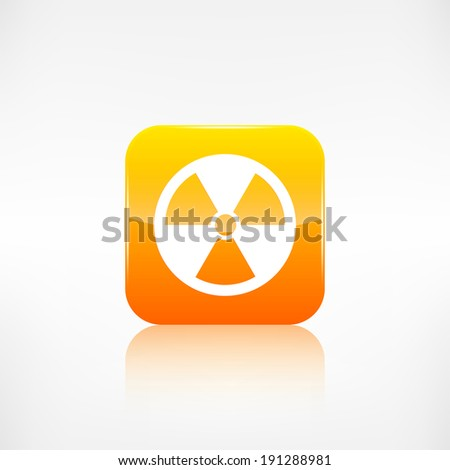 Radiation danger icon