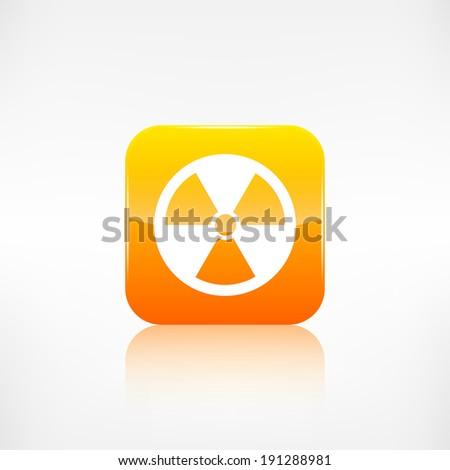Radiation danger icon - stock photo