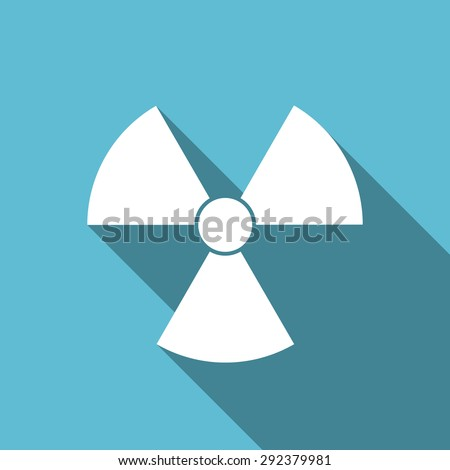 radiation flat icon atom sign original modern design flat icon for web and mobile app with long shadow  - stock photo