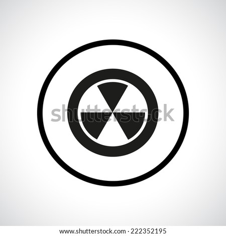 Radiation hazard symbol in a circle. Black flat icon. Vector version is also available in the portfolio. - stock photo