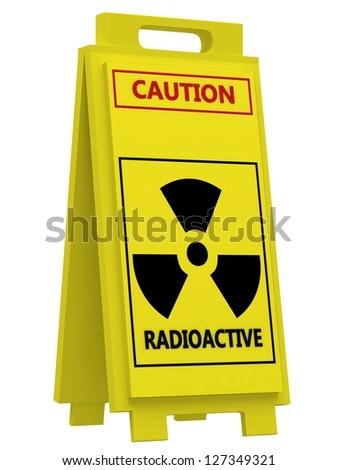 Radiation hazard symbol sign - stock photo