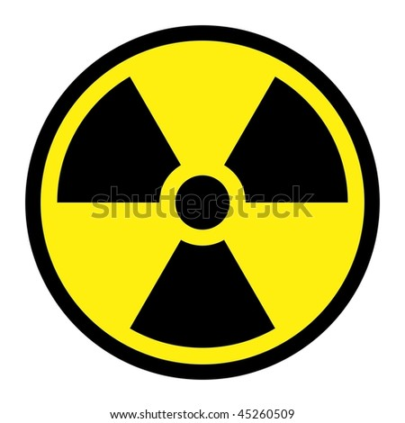 Radiation Round Sign - stock photo
