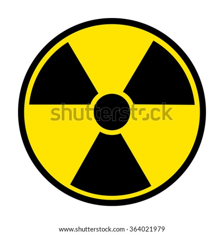 Radiation Round Sign isolated on white background. illustration