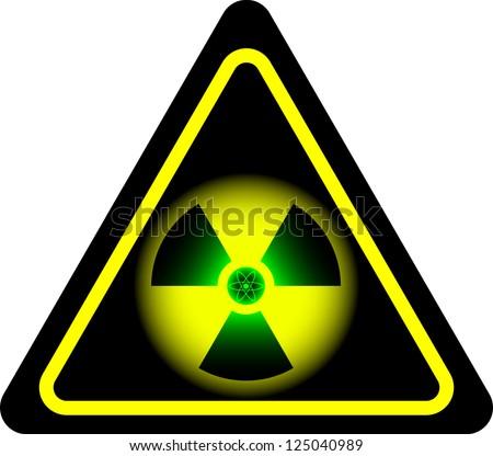 radiation. second variant. raster variant - stock photo