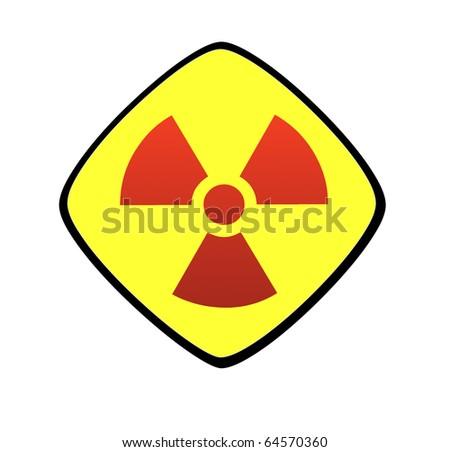 Radiation sign - stock photo
