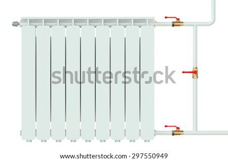 radiator isolated on white background - stock photo